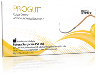 3-0 Progut Chromic Sutures 19mm RC 3/8C