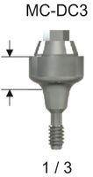 DC Compact Conical Abutment 3.0 x 1mm