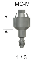 M-Series Compact Conical Abutment 3mm