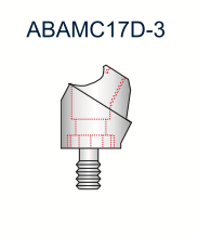 Compact Conical Abutment 17deg 5mm x 3mm