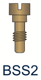 2 Series Slotted Brass Screw
