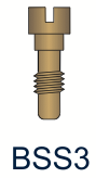 3 Series Slotted Brass Screw