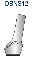 Ex-Hex Shouldered Abutment 4.0mm 12deg