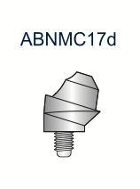 Compact Conical Abutment 17deg 3.25mm x 3mm