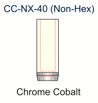 Ex-Hex Chrome Cobalt UCLA Abutment IB Non-Engaging