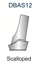 Ex-Hex Scalloped Titanium Abutment 5.0mm 12deg