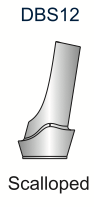 Ex-Hex Scalloped Titanium Abutment 12deg