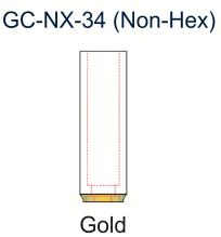 Ex-Hex UCLA Gold Abutment 3.4mm Non-Engaging