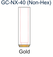 Ex-Hex UCLA Gold Abutment 4.0mm Non-Engaging