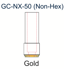 Ex-Hex UCLA Gold Abutment 5.0mm Non-Engaging