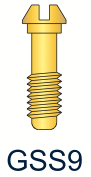 9 Series Gold Slotted Screw