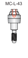 Tri-Nex Compact Conical Abutment 4.3mm x 1mm