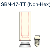 Ex-Hex Passive Abutment 3.25mm Non-Engaging