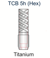 Ex-Hex Titanium UCLA Abutment 4.0mm x 5mm Engaging