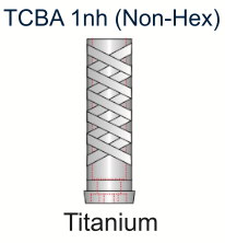Ex-Hex Titanium UCLA Abutment 5.0mm x 1mm Non-Engaging