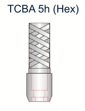 Ex-Hex Titanium UCLA Abutment 5.0mm x 5mm Engaging