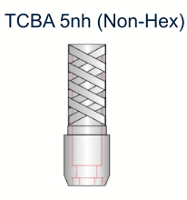 Ex-Hex Titanium UCLA Abutment 5.0mm x 5mm Non-Engaging