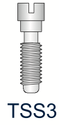 Titanium Slotted Screw Series 3