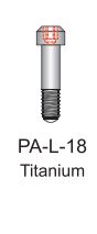 Titanium Passive Abutment Screw 1.8mm