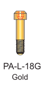 Gold Passive Abutment Screw 1.8mm